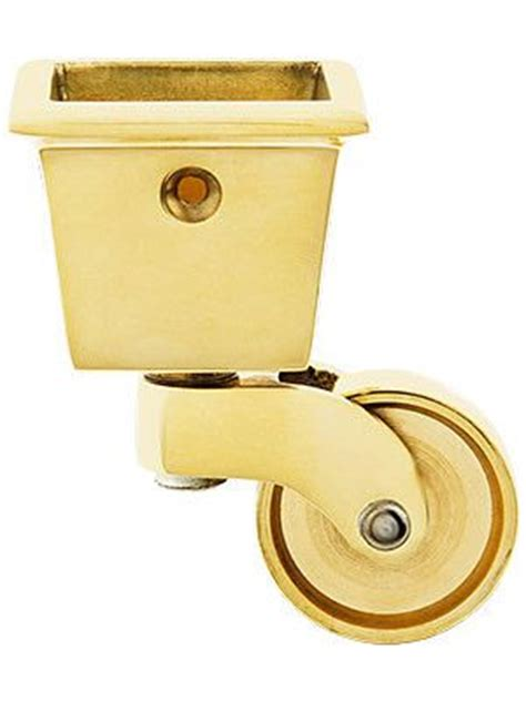 cup casters for table legs large square cup caster with 1 1 4 quot brass wheel