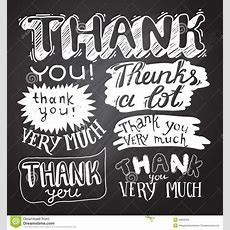 Thank You Card With Chalkboard Background Stock Vector  Illustration 48930355