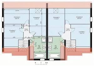 Maison double detail du plan de maison double faire for Wonderful modele de plan maison 0 maison plain pied garage double