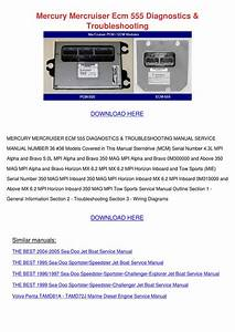 Mercury Mercruiser Ecm 555 Diagnostics Troubl By Vallie Barbar