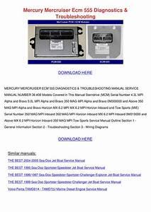Mercury Mercruiser Ecm 555 Diagnostics Troubl By Vallie