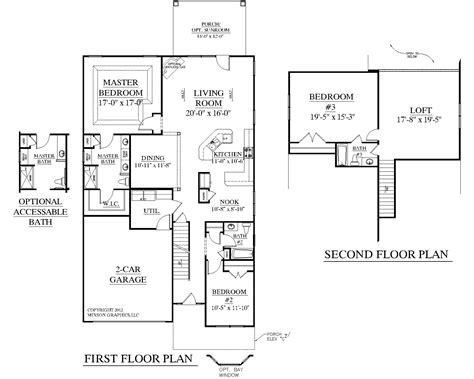 2 bedroom with loft house plans southern heritage home designs house plan 2545 a the englewood a