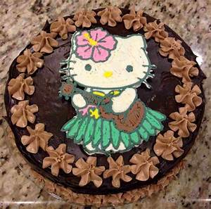 Hello Kitty Cake (how to make frosting transfers for easy
