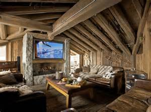 rustic home interiors a warm and cozy post and beam living room fireplace tv combo also rustic