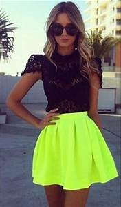 Neon Skirts Women 2014 Summer Fashion High Waist Mini