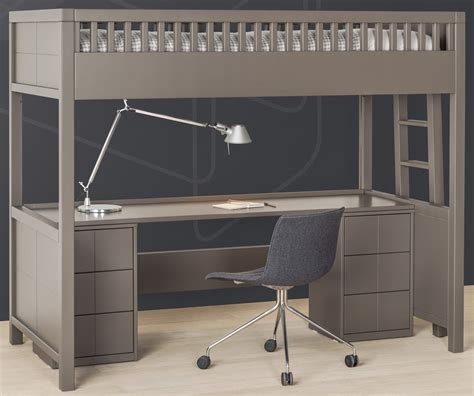 lit mezzanine 2 places avec bureau lit mezzanine quarré avec bureau rabattable