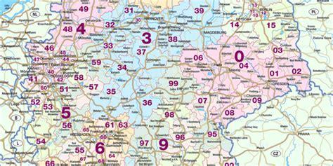 karte von deutschland postleitzahlen land staat welt
