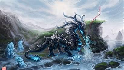 Dragon Cyan Eastern Ilison Deviantart Wallpaperaccess Drawings