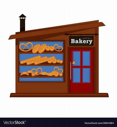 Bakery Bread Booth Vendor Facade Vector Building