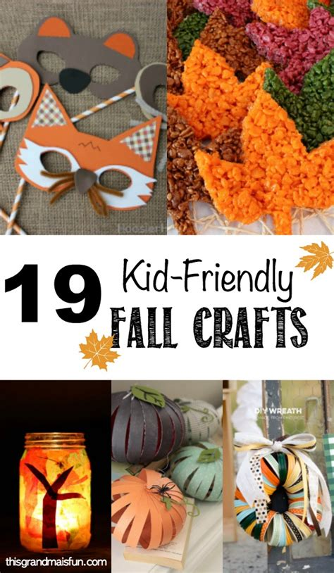 kid fall craft ideas 19 kid friendly fall crafts tgif this is 4794