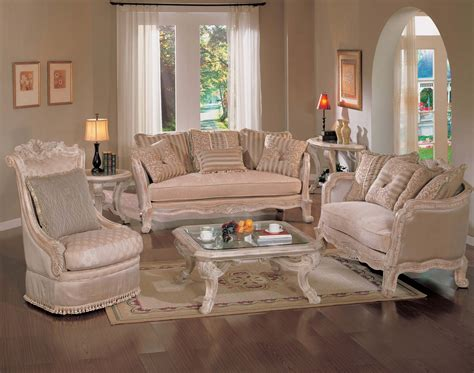 luxury antique white living room traditional sofa set
