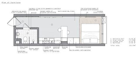 2 Super Tiny Home Designs Under 30 Square Meters (Includes Floor Plans) :  A Minimalist Studio Apartment Under