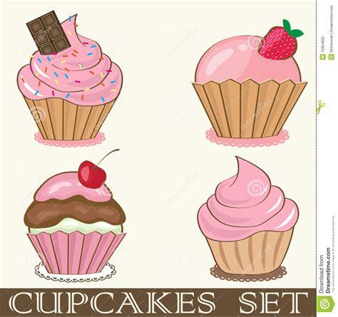 birthday card  strawberry cupcake royalty  stock