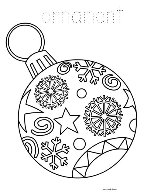 ornaments  printable christmas coloring pages  kids