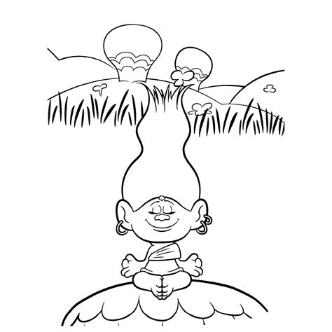 dreamworks trolls coloring pages getcoloringpagescom