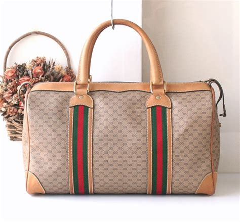 gucci boston bag monogram red  green gucci monogram