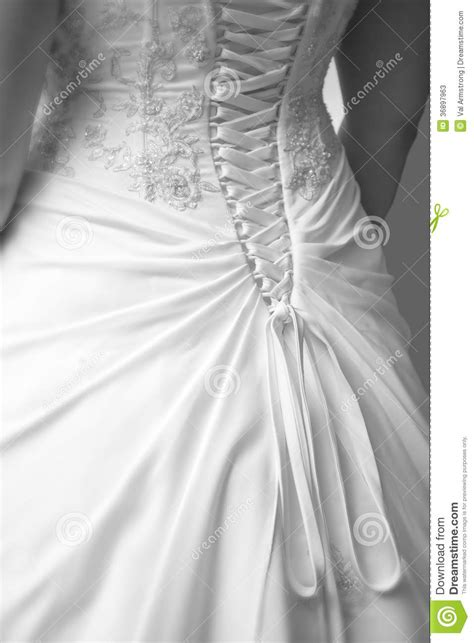 Wedding Dress Detail Back Stock Image Image Of Symbol