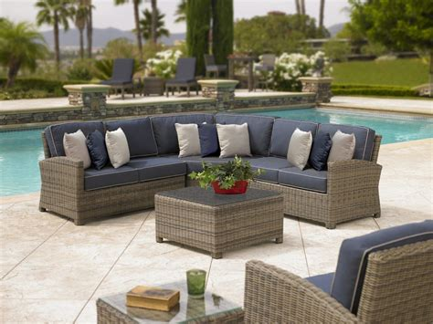 sectional outdoor furniture outdoor wicker seating sofas sectionals redbarn