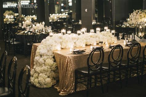black  gold wedding inspiration elegantweddingca