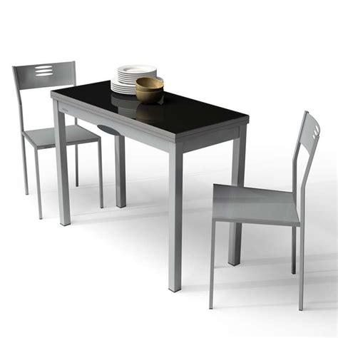 table de cuisine extensible table de cuisine extensible en verre et mélaminé delibro