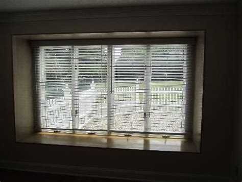 large windows   expensive  difficult  cover faux wood blinds   excellent choice