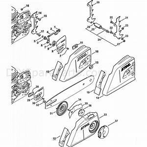 Stihl Ms 362 Chainsaw  Ms362  U0026 C  Parts Diagram  Chain Tensioner