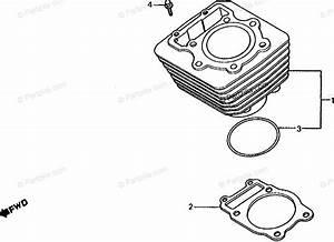 Honda Atv 1986 Oem Parts Diagram For Cylinder