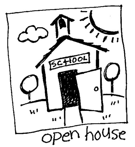 Image result for school open house clip art black and white