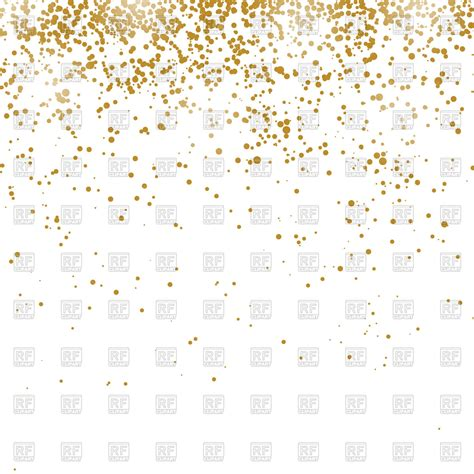 Gold Confetti Background Gold Confetti Pattern Isolated On White Background Vector