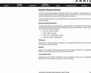 Arris Dg1670 Touchstone Data Gateway User Manual