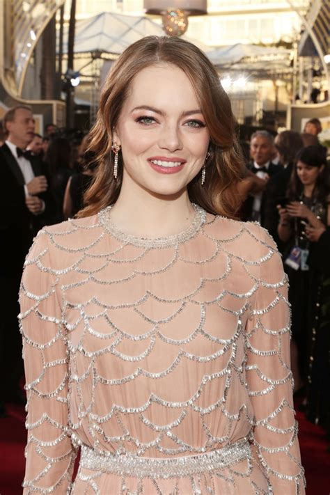 Emma Stone 2019 Golden Globe Awards Red Carpet