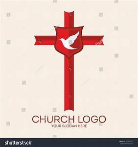 Church Logo Cross Dove Holy Spirit Stock Vector 324963227 ...