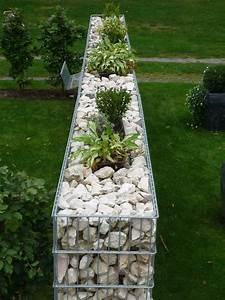 Gabionen Sichtschutz Terrasse : gabionen mit blumen bepflanzt extra breite gabionen in ~ A.2002-acura-tl-radio.info Haus und Dekorationen