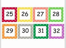 Polka Dot numbers cards 1100 by Sara Cooper Teachers