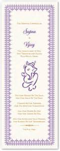 ceremony card wording ganesha indian wedding ceremony