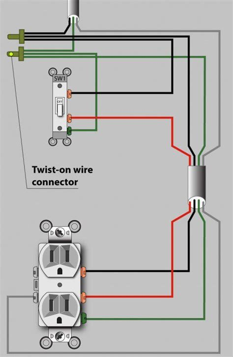 an electrician explains how to wire a switched half