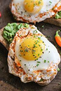 creamy avocado with chili-lime fried eggs - Girl on the Range