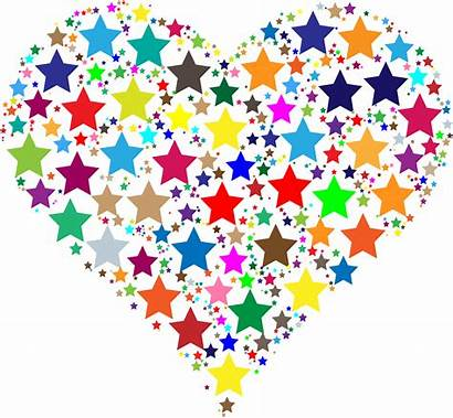 Colorful Heart Stars Clipart Star Svg Transparent