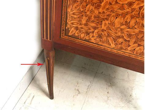 bureau debout bureau secrétaire louis xvi marqueterie fleurs bois debout