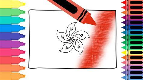 Coloring Pages Hong Kong Flag