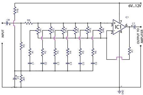 band graphic equaliser circuit   op amp koleksi