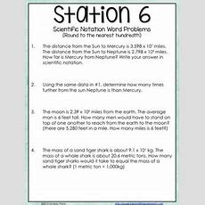 Scientific Notation  Middle School Math Stations By Lindsay Perro