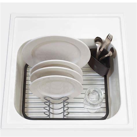 kitchen sink dish racks umbra sink dish rack drainer tray kitchen cups cutlery 5703