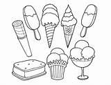 Ice Cream Coloring Pages Sandwich Printable Sheets Coloringpagebase Cone Creams Dessert Template Sundae sketch template