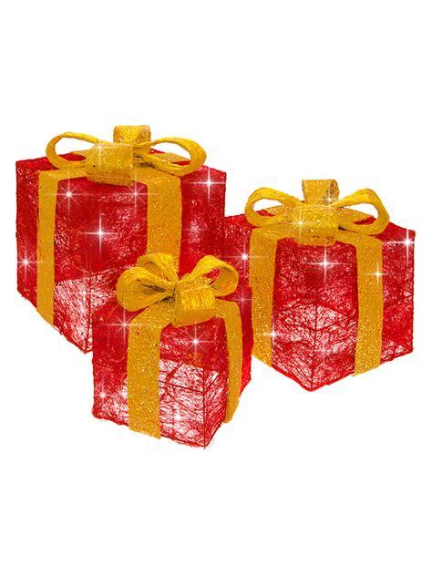 set   led light  christmas present xmas gift box xmas
