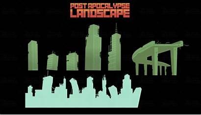 Vector Apocalypse Landscape Thegameassetsmine Purchased Logged Customers
