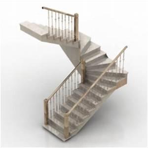 Escalier Sweet Home 3d : 3d model staircase with handrails 3d model download free ~ Premium-room.com Idées de Décoration