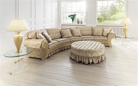 round loveseat with ottoman curved french accent oversized sofa with ruffle added
