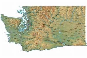 Detailed Washington Map - WA Terrain Map Washington