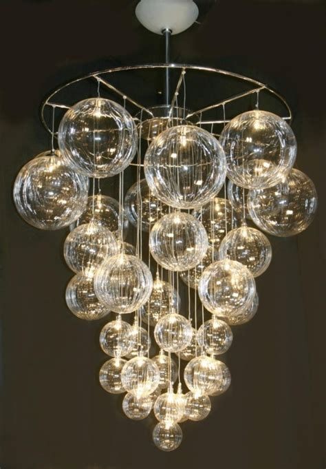 22. DIY Bubble Chandelier   34 DIY Chandeliers to Light up Your Life